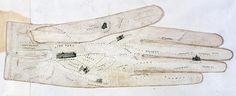 1851 Great Exhibition map on a glove
