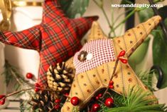 Plaid and Pine Cones - Sow & Dipity