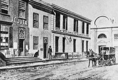 Juta's first Bookshop in Wale Street, 1853 Old Pictures, Old Photos, Cities In Africa, Cape Colony, The Longest Journey, Cape Town South Africa, Travel Brochure, Most Beautiful Cities, African History