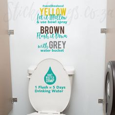 Water Restrictions Bathroom Decals - Save Water Bathroom Wall Stickers