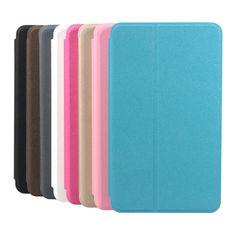 Matorrales folio de la PU cubierta de la caja de cuero para samsung tablet T230