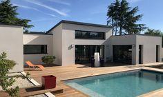 Casas modernas - Depreux Construction - Rebel Without Applause Modern Villa Design, Home Deco, Interior Design Living Room, Modern Architecture, Museum Architecture, House Tours, Future House, House Plans, New Homes