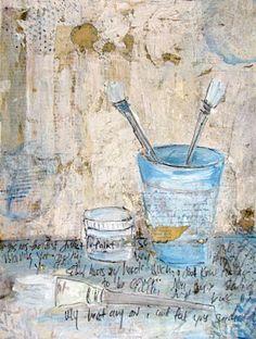 by misty mawn.one of my artistic mentors. Art Journal Inspiration, Artist Inspiration, Encaustic Art, Painting Inspiration, Illustration Art, Art, Funky Art, Altered Art, Art Display