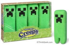 Minecraft Marshmallow Creeps.  The boys would loved these!