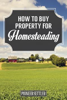 How to Buy Property for Homesteading - good to know for when Homesteading purchasing starts...