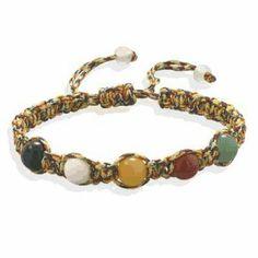 Multistone Macrame Bracelet  http://salernosjewelrystore11.ecrater.com/p/12235035/multistone-macrame-bracelet