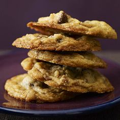 Snickerdoodle Cookies Best Ever Chocolate Chip Cookies Chocolate-Toffee Cookies Toffee Cookie Recipe, Drop Cookie Recipes, Toffee Cookies, Cookie Desserts, Brownie Recipes, Just Desserts, Delicious Desserts, Dessert Recipes, Cookie Table