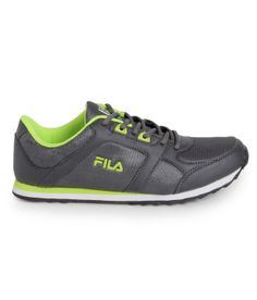 green fila shoes | Fila Rolf Grey & Lime Green Running Shoes.