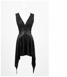Punk Rave Rock Gothic Black Reptile Dress
