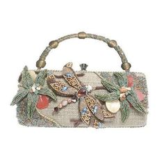 Givenchy Embroidered Metal Chain Evening Bag/ this bag is handmade and as such could be made by any one of US!