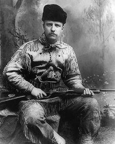 Theodore Roosevelt as a Badlands hunter - New York 1885