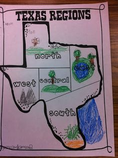 Landform Map Of Texas.9 Best Texas Landforms Images Teaching Social Studies Classroom