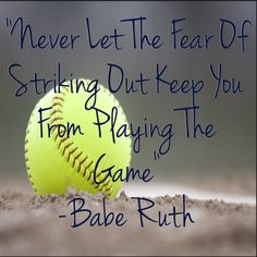 Here is Softball Quotes for you. Softball Quotes 95 shocking softball quotes that will leave you speechless. Softball Chants, Softball Drills, Softball Gifts, Softball Players, Fastpitch Softball, Softball Stuff, Volleyball, Softball Bows, Softball Coach