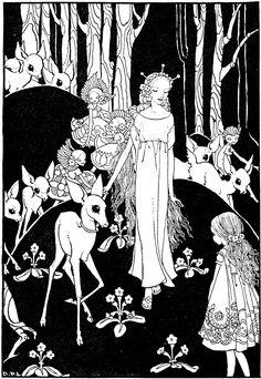 Dorothy Lathrop illustration for Mopsa the Fairy by Jean Ingelow 1927 Art And Illustration, Illustrations Vintage, Vintage Fairies, Vintage Art, Fairytale Fantasies, Fairy Art, White Art, Faeries, Illustrators