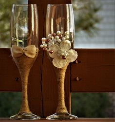 Wedding Glasses Toasting Flutes Champagne by AccessoriesbyNicolle