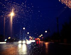 It was rainin yesterday:) makes everything more magical.