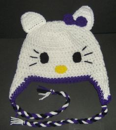 Hello Kitty Hats by ChrisCreations   Want to make this? Find it on ChrisCreations Craftsy page along with instructions!