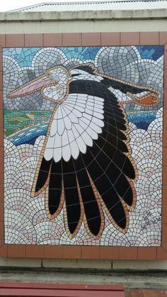 Pelican Mosaic outside Goolwa Library, Goolwa SA Australia