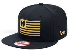 a94278cdfd1 Black Iron Flag 9Fifty Snapback Cap by WU TANG CLAN x NEW ERA