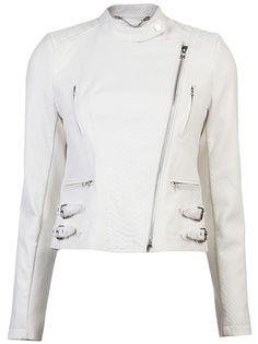 Yigal Azrouel White Python Moto Jacket