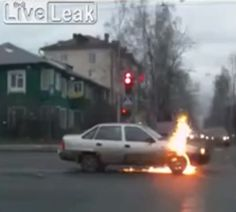 Bizarre! Can You Work Out Why This Car Spontaneously Combusts!? Click to view...