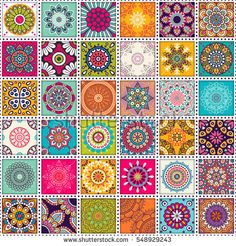 Perfect for printing on fabric or paper. Mandala Art, Mandala Painting, Dot Painting, Mandala Design, Islamic Patterns, Tile Patterns, Print Patterns, Mandala Wallpaper, Pattern Wallpaper
