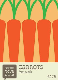 Carrot Seeds by EVRT Studio, via Flickr