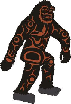 BigFoot Sightings from Around the Worls, Sasquatch, Yowi, Abonimable Snowman, All Sightings of Large Humanlike Creatures Native American Projects, Native American Design, Forest People, Bigfoot Sightings, Finding Bigfoot, Creepy Images, Forest Tattoos, Bigfoot Sasquatch, Haida Art