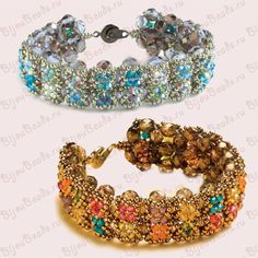 Bracelet summer kiss of beads and beads bicones