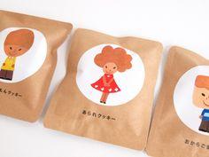 SWEETS AID(スイーツエイド)のクッキー Brownie Packaging, Rice Packaging, Baking Packaging, Craft Packaging, Chocolate Packaging, Food Packaging Design, Bottle Packaging, Packaging Design Inspiration, Branding Design