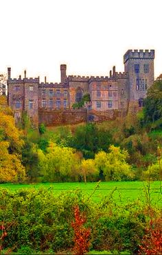 Gothic Castle Lismore in County Waterford, Ireland.