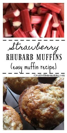 Rhubarb Muffins Extra rhubarb you need to use up? Try these easy delicious strawberry rhubarb muffins.Extra rhubarb you need to use up? Try these easy delicious strawberry rhubarb muffins. Rhubarb Cookies, Strawberry Rhubarb Muffins, Rhubarb Scones, Rhubarb Bread, Rhubarb Desserts, Strawberry Recipes, Fruit Recipes, Cooking Recipes, Healthy Rhubarb Recipes
