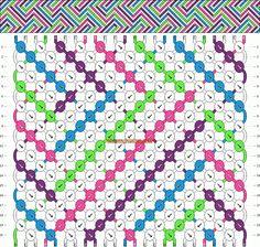 Normal Friendship Bracelet Pattern #10081 - BraceletBook.com