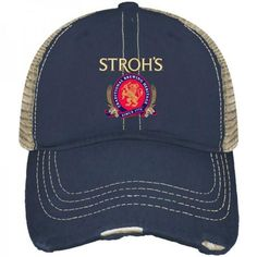 4787dc8044a Shop Stroh s Beer Pabst Brewing Company Retro Brand Vintage Mesh Adjustable  Hat Cap Captain America Shield