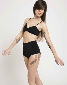 soft bra  black bra  sports bra  womens by UglyDucklingGalAngel