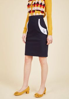 Take Me Aweigh Pencil Skirt