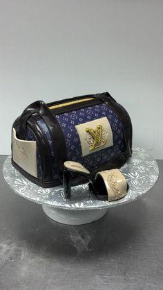 Purse and shoe cake Money Birthday Cake, Birthday Cake Girls, Birthday Cakes, Fondant, Cupcakes, Cupcake Cakes, Handbag Cakes, Purse Cakes, Louis Voutton
