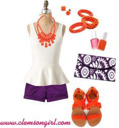 Clemson Gameday Look - Peplum Princess