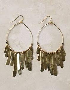 Anthropology inspired hammered earrings!