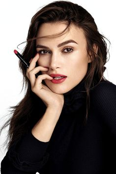 Keira Knightly for Chanel Rouge Coco Stylo simple but wow!