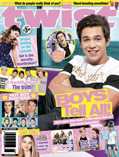 The August issue of TWIST is here! What do you think of our new cover, featuring Austin Mahone, Ariana Grande, Sabrina Carpenter, Fifth Harmony and more stars? Pick it up on newsstands now!