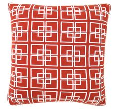 DG37 Delta Knit 50x50cm Filled Cushion Papaya