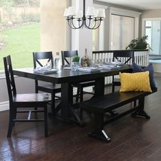 Shop for Countryside Chic 6-piece Antique Black Wood Dining Set. Get free delivery at Overstock.com - Your Online Furniture Shop! Get 5% in rewards with Club O!