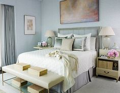 With 60 beautiful bedroom designs, there's a room for everyone. Upgrade your cozy escapes with these ideas that'll make you want to bliss out on all the bedding with these modern bedroom ideas. Tranquil Bedroom, Blue Master Bedroom, Dream Bedroom, Modern Bedroom, Bedroom Decor, Bedroom Ideas, Master Bedrooms, Bedroom Colors, Spa Bedroom