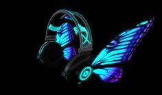 Encontre esto: 'Glow Butterfly headphones' en Wish, ¡échale un ojo!