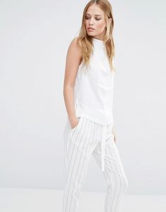 Y.A.S Freja High Neck Sleeveless Shirt