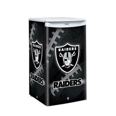 NFL Oakland Raiders Counter Top Refrigerator « Blast Gifts