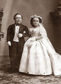 Tom Thumb and his wife, Mercy Lavinia Warren