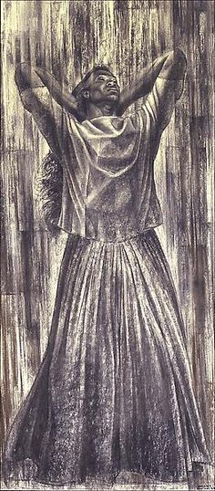 Charles White Juba, 1962 Wolff crayon and charcoal on illustration board x cm. African American Artist, American Artists, Black Artists, New Artists, Renaissance Artists, Charcoal Art, Artist Art, Figurative Art, Illustration Art