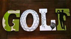 "9"" Hand-Painted Golf Letters for Bedroom or Home Decor by DecorativeDecoupage, $80.00"